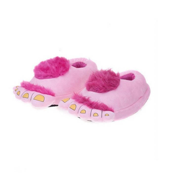 Pantoufles monstre Bigfoot cartoon Coton slippers BTYS-XZ036Rose45
