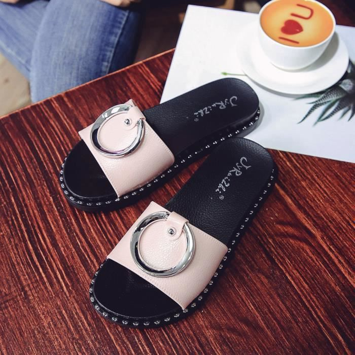 Platform Casual Slippers Summer Beach Sandales Wedge Ladies rose Femme Chaussures wq7pA