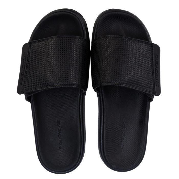 lotería consumirse Silicio  Sandales Skechers Gambix 2.0 pour homme en noir- Tige à bandes- Semelle à  mémoire de forme Noir - Achat / Vente sandale - nu-pieds - Cdiscount