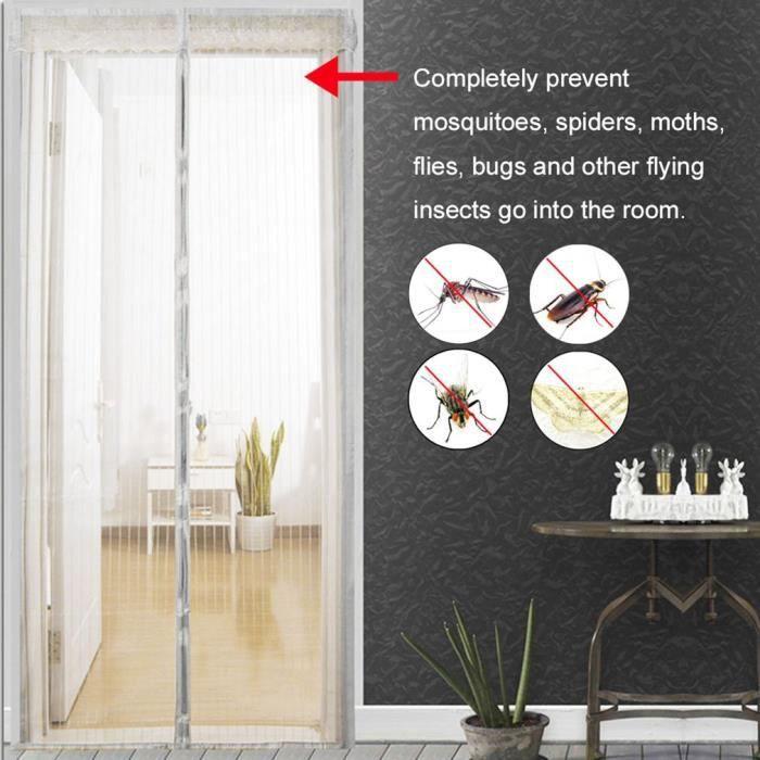 VOILAGE LESHP® Fermeture Automatique moustiquaire De Porte