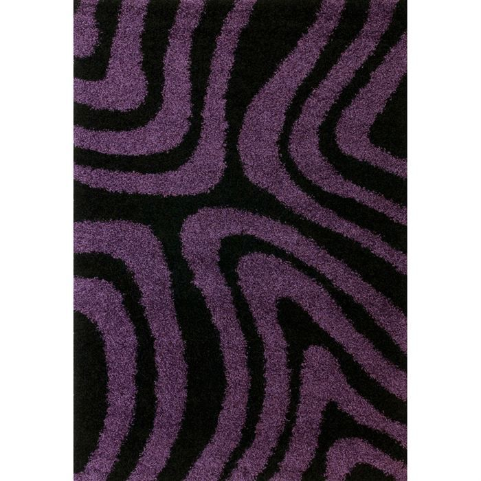 tapis poils long 120x170 noir achat vente tapis cdiscount. Black Bedroom Furniture Sets. Home Design Ideas
