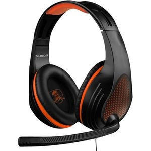 CASQUE AVEC MICROPHONE Subsonic - Casque Gaming X 1000 pour PS4 Slim / Pr