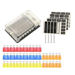 100A Almencla Disjoncteur Bloc Distribution Fusible Commutateur de Voiture Support Audio /Étanche 80 mm x 50 mm x 4 mm