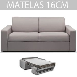 ITALIAN SPIRIT Canapé convertible 3 places RAPIDO MIDNIGHT - Tweed gris silver - Couchage : 140 cm