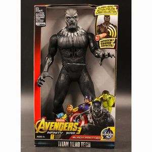 FIGURINE - PERSONNAGE AVENGERS - BLACK PANTHER S 2018 - Figurine 30cm