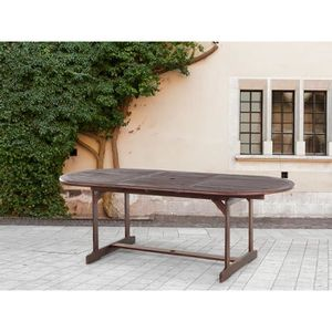 table de jardin bois ovales achat vente table de jardin bois ovales pas cher cdiscount. Black Bedroom Furniture Sets. Home Design Ideas
