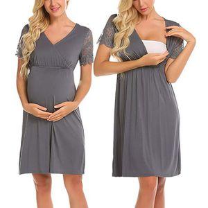 ROBE ROBE Femmes enceintes Soins infirmiers Nightgown g
