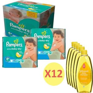 COUCHE Pack bébé propre 420 Couches Pampers Active Baby D