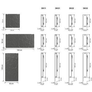RADIATEUR DE CHAUFFAGE Radiateur chauffage central H2O DK33 Horizontal Ar