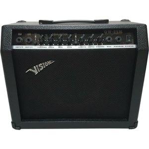 AMPLIFICATEUR Ampli Guitare Vision Gw-25m 30w Avec Prise Micr…