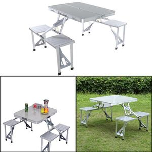 TABLE ET CHAISES CAMPING Siamois table pliante et une chaise - Table de piq
