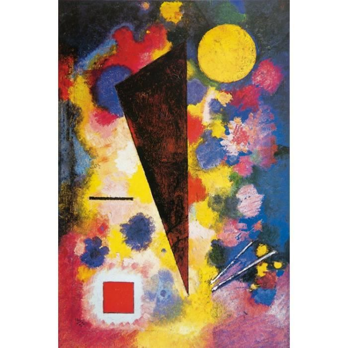 vassily kandinsky poster reproduction sur toile tendue sur ch ssis r sonance multicolore. Black Bedroom Furniture Sets. Home Design Ideas