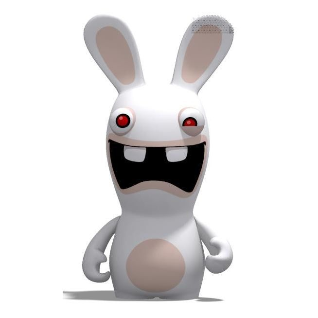 Video raving rabbids spank a rabbit tits