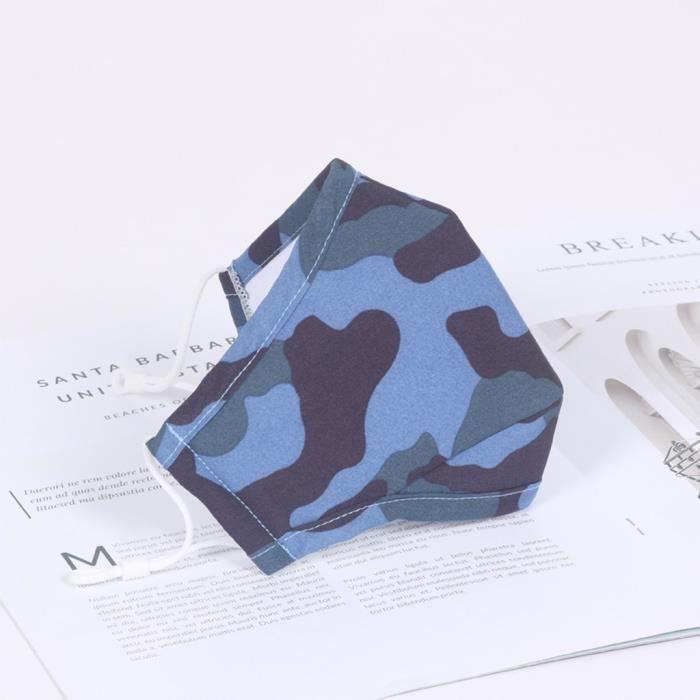 Masque Facial Lavable De Protection Coton Réutilisable Sécurité D'Impression Camouflage Adulte -LYG200529203BU@ma5838