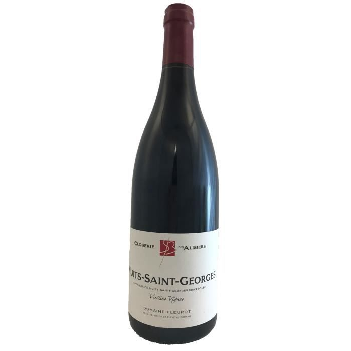 Nuits Saint George Vieilles Vignes 2017 Domaine Fleurot - 75 cl - Vin Rouge AOP de Bourgogne - Cépage Pinot Noir
