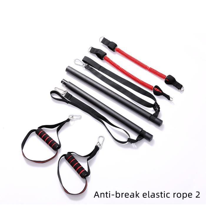 FDBRO barre de Tension musculaire avec bandes de résistance boucles en caoutchouc formateur corp - Modèle: B 2 ropes - HSJSZHA08967