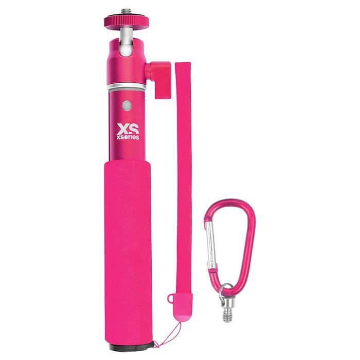 Xsories - Perche Selfie Stick extensible Monopod téléscopique U-SHOT - Rose