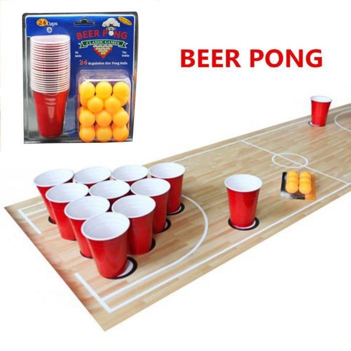 Jeux de plateau,1 ensemble divertissement amusant partie Ping Pong jeu jeu de fête lancer des accessoires de boisson bière Pong