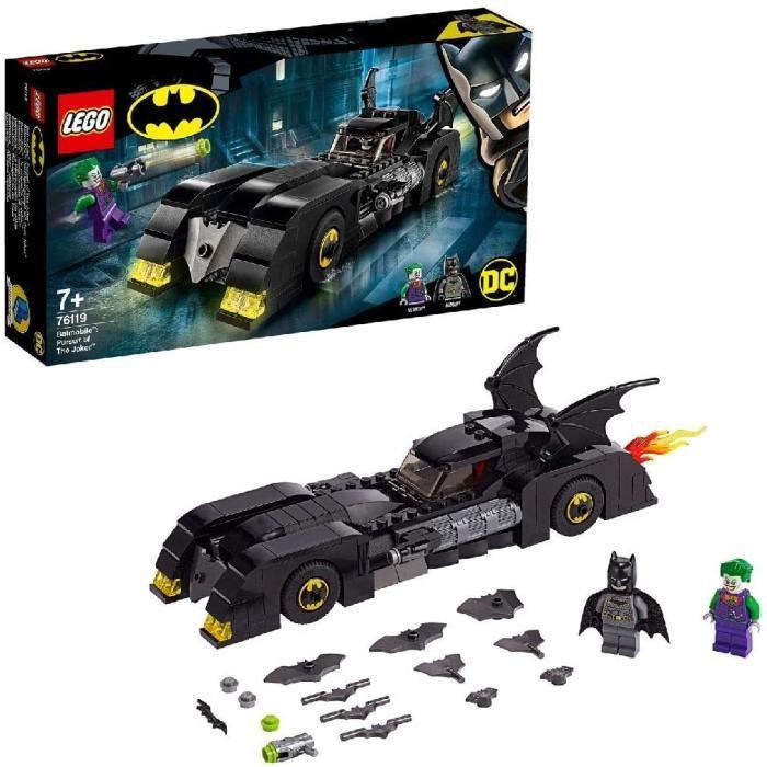 Jeux de construction LEGO®-DC Comics Super Heroes™ Batmobile™ la poursuite du Joker™ Jouet DC Comics Enfant 7 Ans et Pl 52570