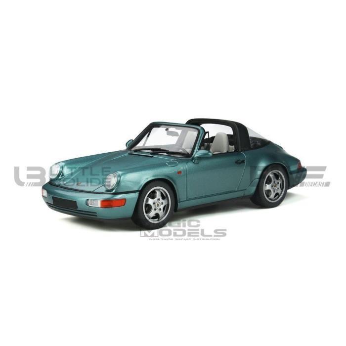 Voiture Miniature de Collection - GT SPIRIT 1/18 - PORSCHE 964 Carrera 4 Targa - 1991 - Turquoise metal - GT805