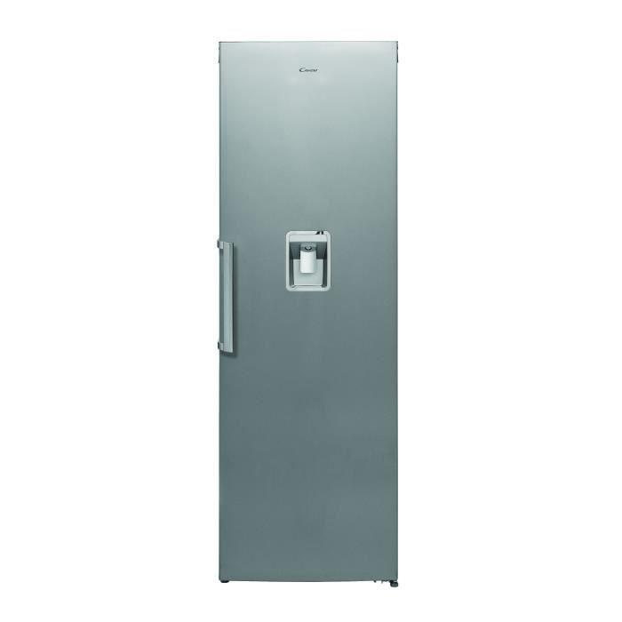 CANDY - CLS186OS - Réfrigérateur 1 Porte Tout Utile - 349 Litres - Inox - Classe A+