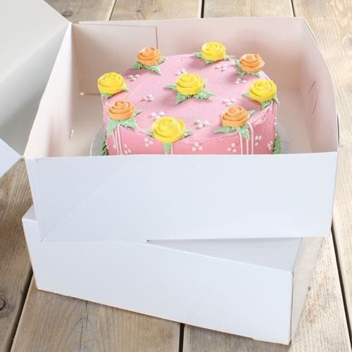 Boites à gâteaux blanches X2