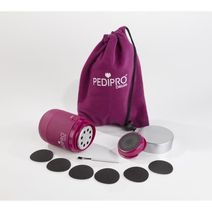 Appareil électrique pour enlever la cornée, appareil de pédicure -PEDIPRO Deluxe-, rose, 12 pièces