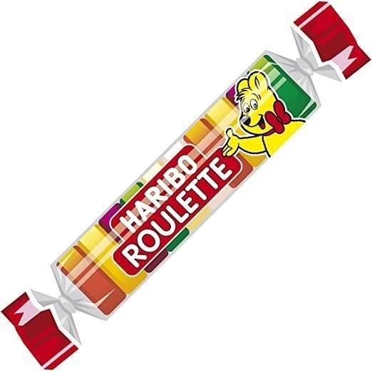 HARIBO Bonbon Roulette Fruits boîte de 45 rouleaux