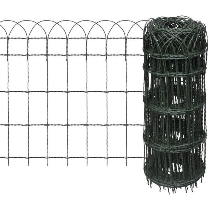 Bordure de Jardin extensible 10 x 0,65 m Grillages Haute qualité pour cour Pratique bétail Durable clôture