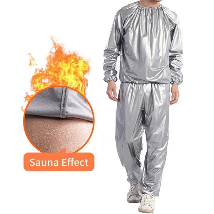 SURENHAP Ensemble de Vêtements Combinaison de sudation femme-homme PVC Exercice Anti-Rip