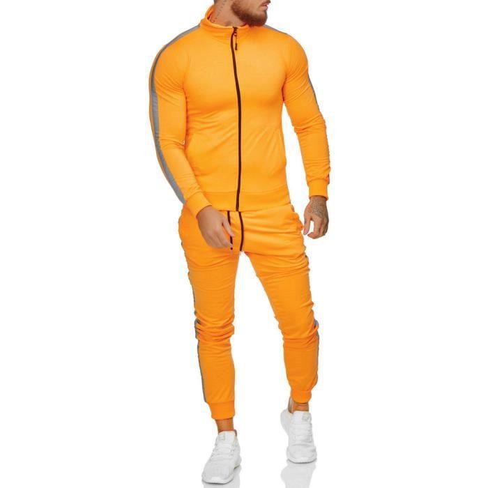 Ensemble jogging homme Survêt 1068 orange S