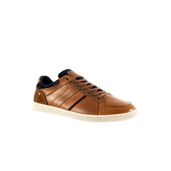 chaussures ville redskins ixia 2p cognac+marine 44
