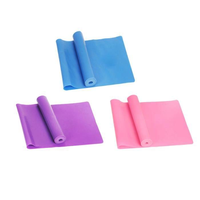 3pcs Fitness Body Building Bandes élastiques de musculation exercice physique pour la thérapie (rose, bleu et violet)