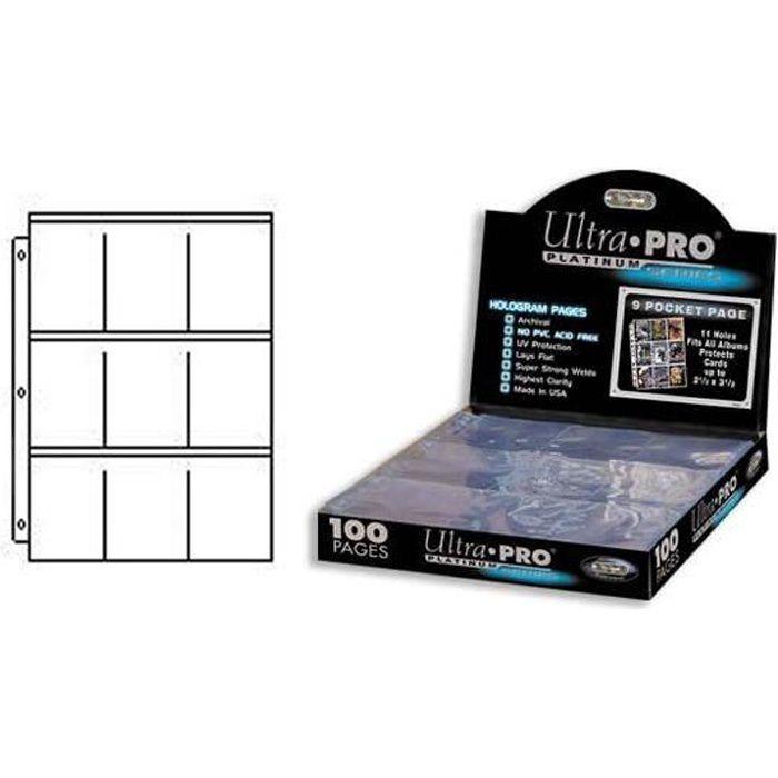 Boîte de 100 Feuilles de classeur Platinum Series Ultra Pro cartes Magic, Pokémon, Yu-Gi-Oh!