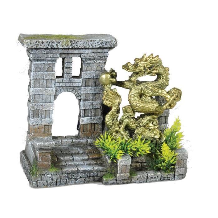 VADIGRAN Aqua Deco Porte du dragon - 21,5 x 11 x 18,5 cm