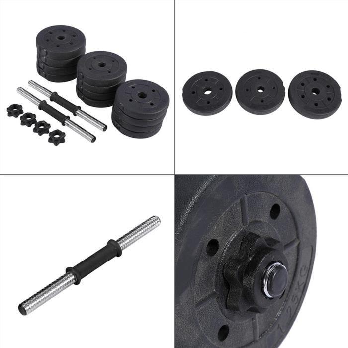 Ensemble d'Haltères 20kg ,Kit Haltères Musculation Poids Ajustable -VGEBY