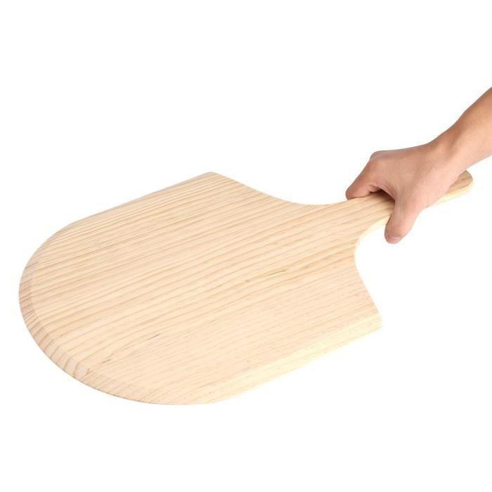"""PALETTE - CORNE  12""""Pelle à pizza en bois avec poignée pour mettre"""