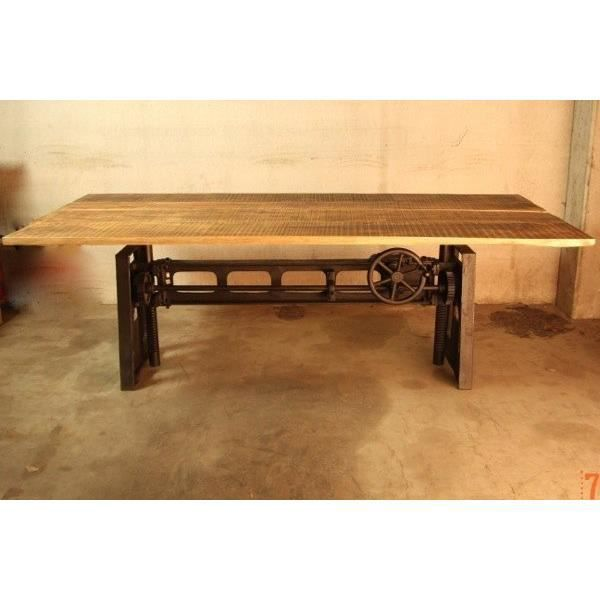 Table Industrielle Rehaussable Achat Vente Table A Manger Seule