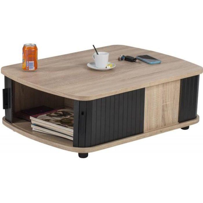 TABLE BASSE Table Basse Rectangle 80 cm Chêne Naturel - Colori