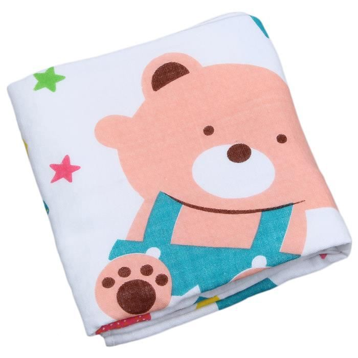 serviette de bain b b ours couverture coton souple blanc achat vente baignoire. Black Bedroom Furniture Sets. Home Design Ideas