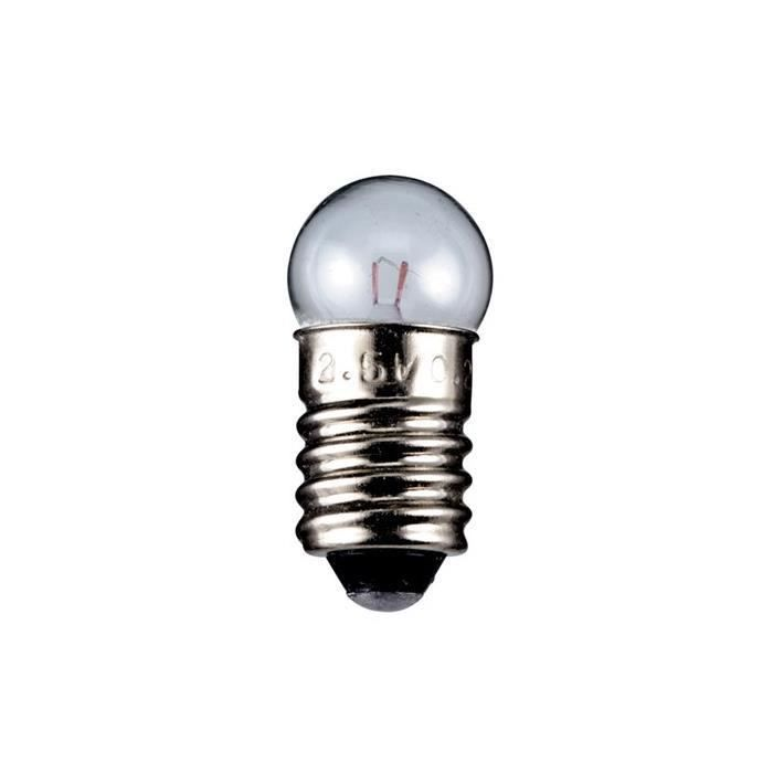 Gutreise DC 50 pcs E10 12V 0,3 A Blanc chaud ampoule ampoules miniature Culot /à vis
