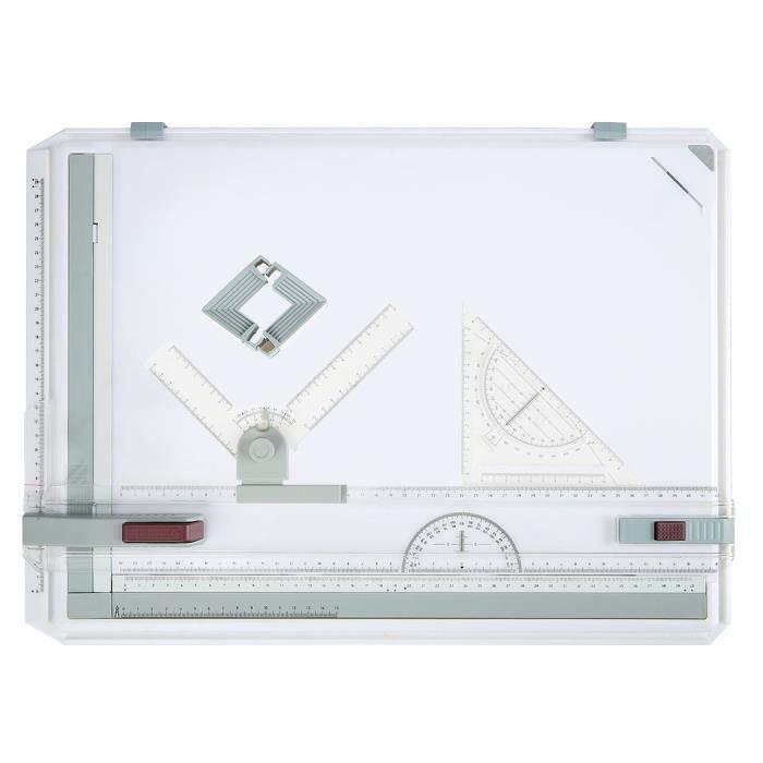 TABLE A DESSIN A3 planche à dessin comploteur Multifonction plast