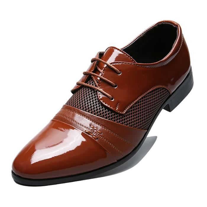 Chaussures en perforé Robe Taille doublée cuir Oxfords EE9KA 46 Respirants qYnUwU