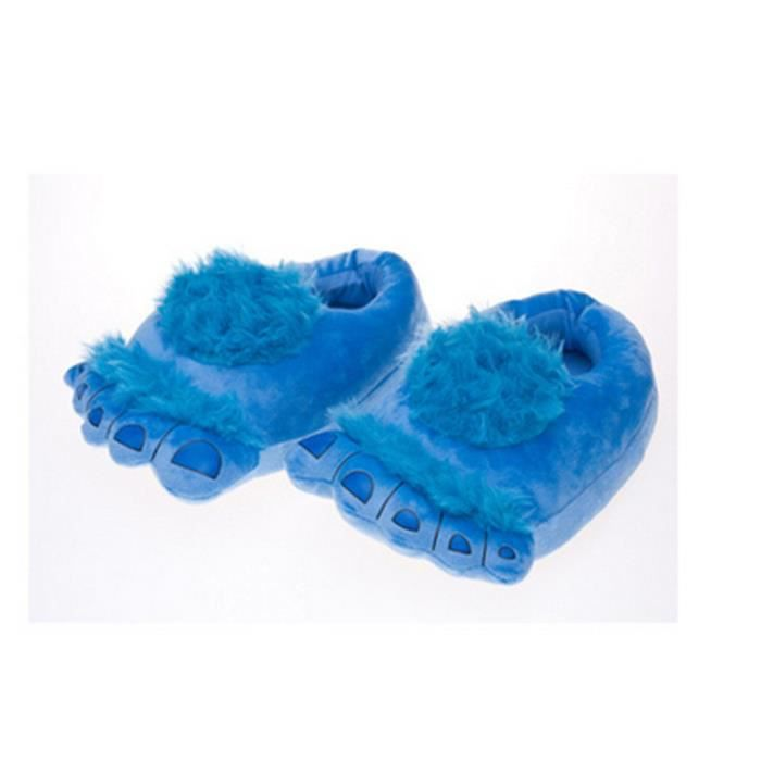 Pantoufles monstre Bigfoot cartoon Coton slippers YLG-XZ036Bleu39 ErARo