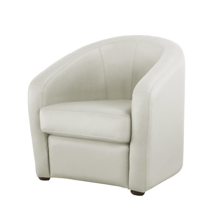 fauteuil cabriolet en cuir avec coussin d 39 assise d houssable pungi blanc achat vente. Black Bedroom Furniture Sets. Home Design Ideas