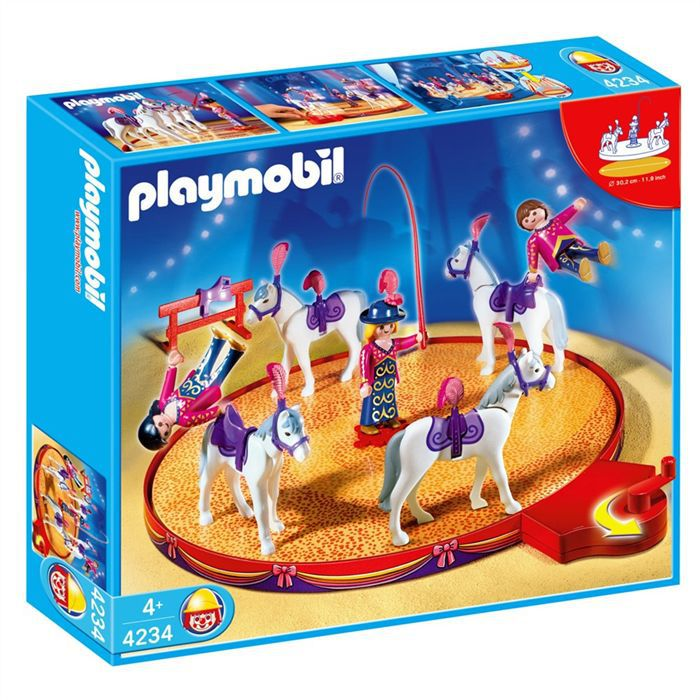 Photo de playmobil-voltigeurs-chevaux-manege