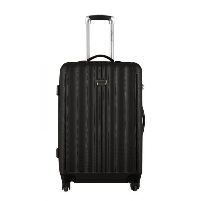 travel one valise albury noir taille l 70cm achat vente valise bagage 3607070611234. Black Bedroom Furniture Sets. Home Design Ideas