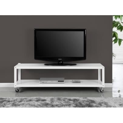 meuble tv alcali sur roulettes 2 tablettes m t achat. Black Bedroom Furniture Sets. Home Design Ideas