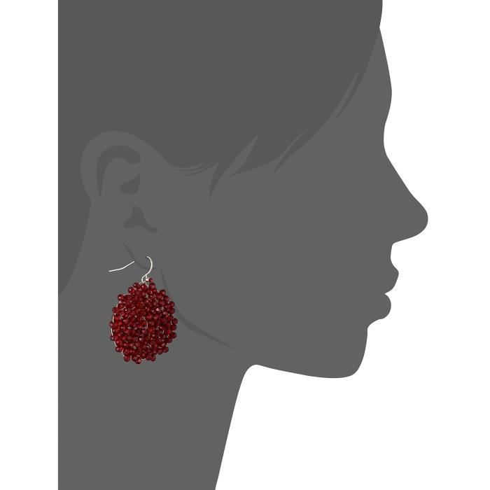 Kenneth Cole New York Red Items Gold And Red Beaded Woven Drop Earrings Z7JZX