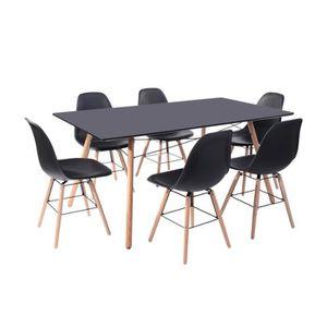 TABLE À MANGER COMPLÈTE LONDON Ensemble table à manger de 6 à 8 personnes